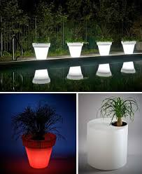 LED Light Pots for the Garden