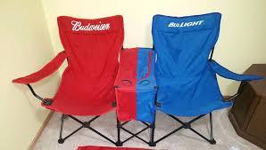 rare bud light folding lawn beach chair built in cooler double wide basketball bud light stadium chairs