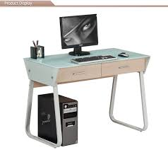 2017 modern tempered glass home computer table