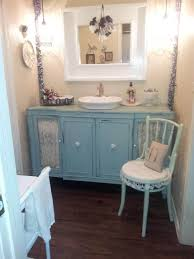 bathrooms ideas. Shabby Chic Bathroom Vanity With Lace Features Bathrooms Ideas