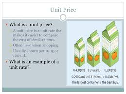 Example Of Unit Price Section 2 2 Rate Unit Rate And Unit Price Ppt Video Online Download