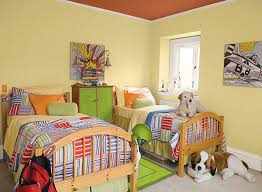 bright paint colors for kids bedrooms. A Light And Bright Yellow Kids\u0027 Bedroom. Paint Colors For Kids Bedrooms S