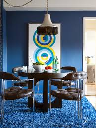 Dining room furniture small spaces Modern Contemporary Dining Room With Dark Wood Table And Blue Shag Carpet Living In Shoebox Hgtvs Tips For Turning Small Space Into Multipurpose Room Hgtv
