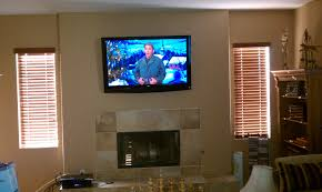decoration how to mounting a tv over fireplace for your room amusing with window blinds and