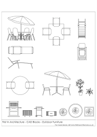 Fia Cad Blocks Outdoor Furniture Architectural Drawings