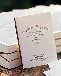 Wedding Ceremony Program Cover Classic Wedding Ceremony Programs Martha Stewart Weddings