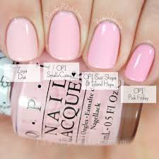 Opi Light Pink Nail Colors Opi Small Cute Comparison Hello Kitty Collection