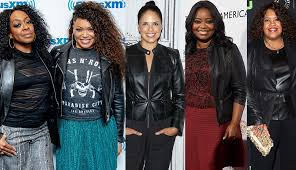 people wearing various leather jackets
