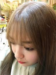 韓国オルチャン風ヘアスタイル髪型 韓国シースルーバング前髪