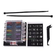 12v fuse box 6v 12v 10 way blade car ato atc van truck fuse box holder terminal bar kit