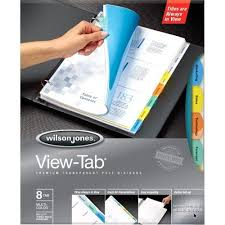 tab index cards wilson jones view tab transparent divider set dividers index