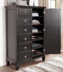 Chicago Furniture Black Storage Bed