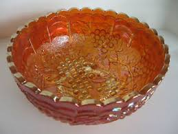 Carnival Glass Patterns Awesome Carnival Glass Bowl Marigold Grape Pattern EBay
