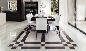 Custom Floor Design With Marble Floor Designs Borders Framing Dining Area