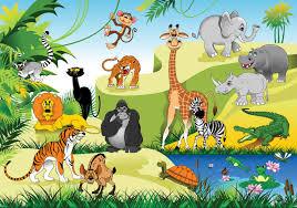 Kinderkamer Behang Dieren In De Jungle