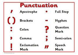 Punctuation My English Blog