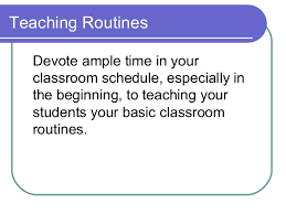 Classroom Routine Chart Transitions Effective Classroom Management