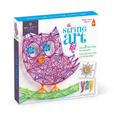 string art kit craft kit with a picture of an owl on it