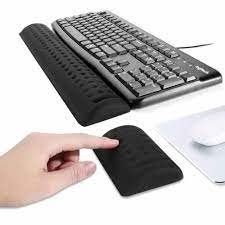Oyun mouse pad bilek istirahat klavye pad bez yüzey yavaş ribaund bellek  köpük koruma bilek mouse pad klavye pad seti Mouse Pads