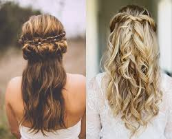 Wedding Half Up Hairstyles Wedding Hairstyle Some Up Some Down Easy Wedding Half Updo