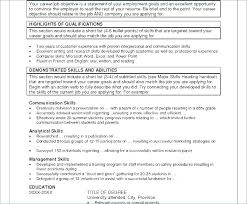 Resume Templates Open Office – Resume Sample Info