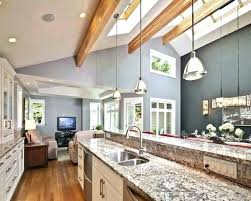lighting for cathedral ceilings. Ideas For Sloped Ceilings Cathedral Ceiling Lighting Kitchen Island Vaulted S