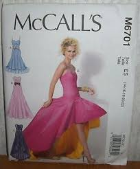 Prom Dress Sewing Patterns Stunning WomensMisses Evening Gown Prom Dress Sewing PatternMcCall's M48