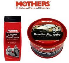 kit 1 brazilian carnauba mothers 1 mothers leather conditioner