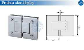 size display glass hinge insturction