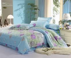 best grey purple flower green blue design cotton fullqueen