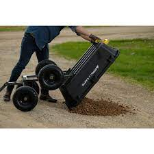 gorilla carts 7 cu ft poly yard dump