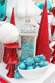 Red and turquoise. Can easily transition this from christmas to ...