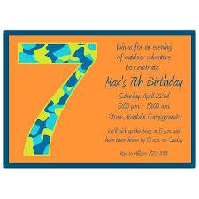7th Birthday Invitation Ideas Picture Invitations Birthday Boy