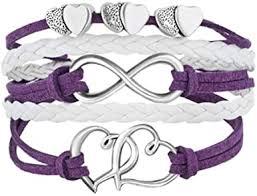 LovelyJewelry Leather Wrap Bracelets Girls Double ... - Amazon.com