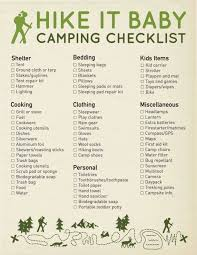 baby item checklist the ultimate guide to camping with kids hike it baby