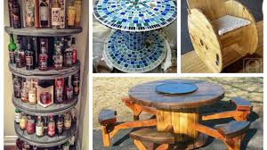 recycled cable spool ideas diy furniture ideas from wooden wire cable spools