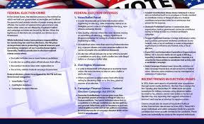 Campaign Brochure Federal Election Crimes Brochure Fbi