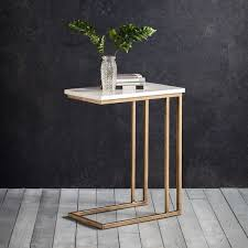 white brass marble side tables