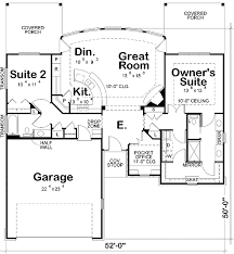 plan 42211db two bedroom ranch home