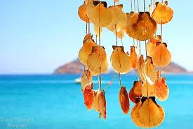 beach wind chimes seashell bead wind chime sea glass