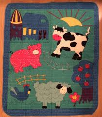 Best 25+ Pre quilted fabric ideas on Pinterest | DIY duffle bag ... & An Adorable Farm Animals Pig, Cow, And Sheep By Barn Double Sided Pre-. Pre  Quilted FabricFabric ... Adamdwight.com