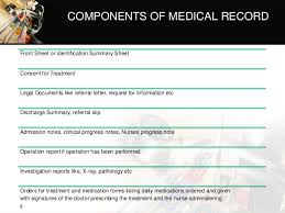 Components Of Patient Medication Chart Medical Records Ppt