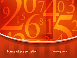 Math Templates Math Numbers Powerpoint Template Backgrounds 10290