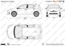The-Blueprints.com - Vector Drawing - Toyota Prius c