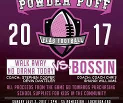 powder puff football flyers powder puff football game to promote empowerment and charity voice