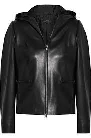 woman academy alaïa hooded leather jacket 15083894