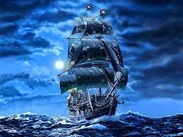 Wallpaper Black pearl sail ship ...