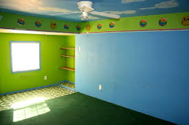paint colors for bedroom with green carpet. happy smiley face wallpaper border blue paint bedroom green carpet fixer-upper san angelo texas colors for with