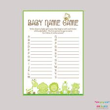 Baby Name Games For Baby Shower
