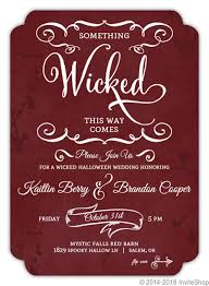 Halloween Wedding Invitations Red Rustic Blood Splatter Halloween Wedding Invitation Wedding